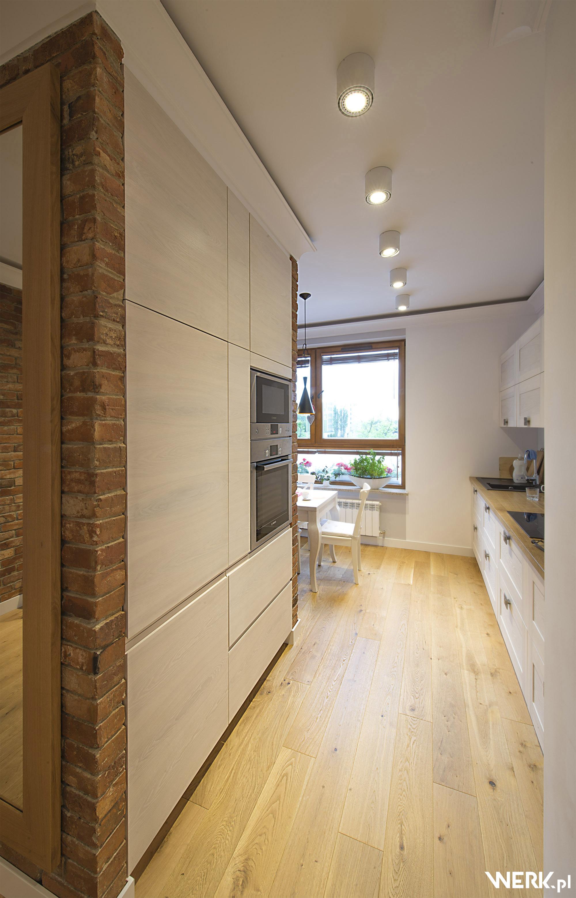 Projekt oświetlenia kuchni w mieszkaniu na warszawskim Żoliborzu