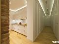 Projekt oświetlenia wnętrz w mieszkaniu na warszawskim Żoliborzu