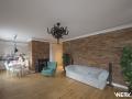 Projekt wnętrz salonu w mieszkaniu na warszawskim Żoliborzu