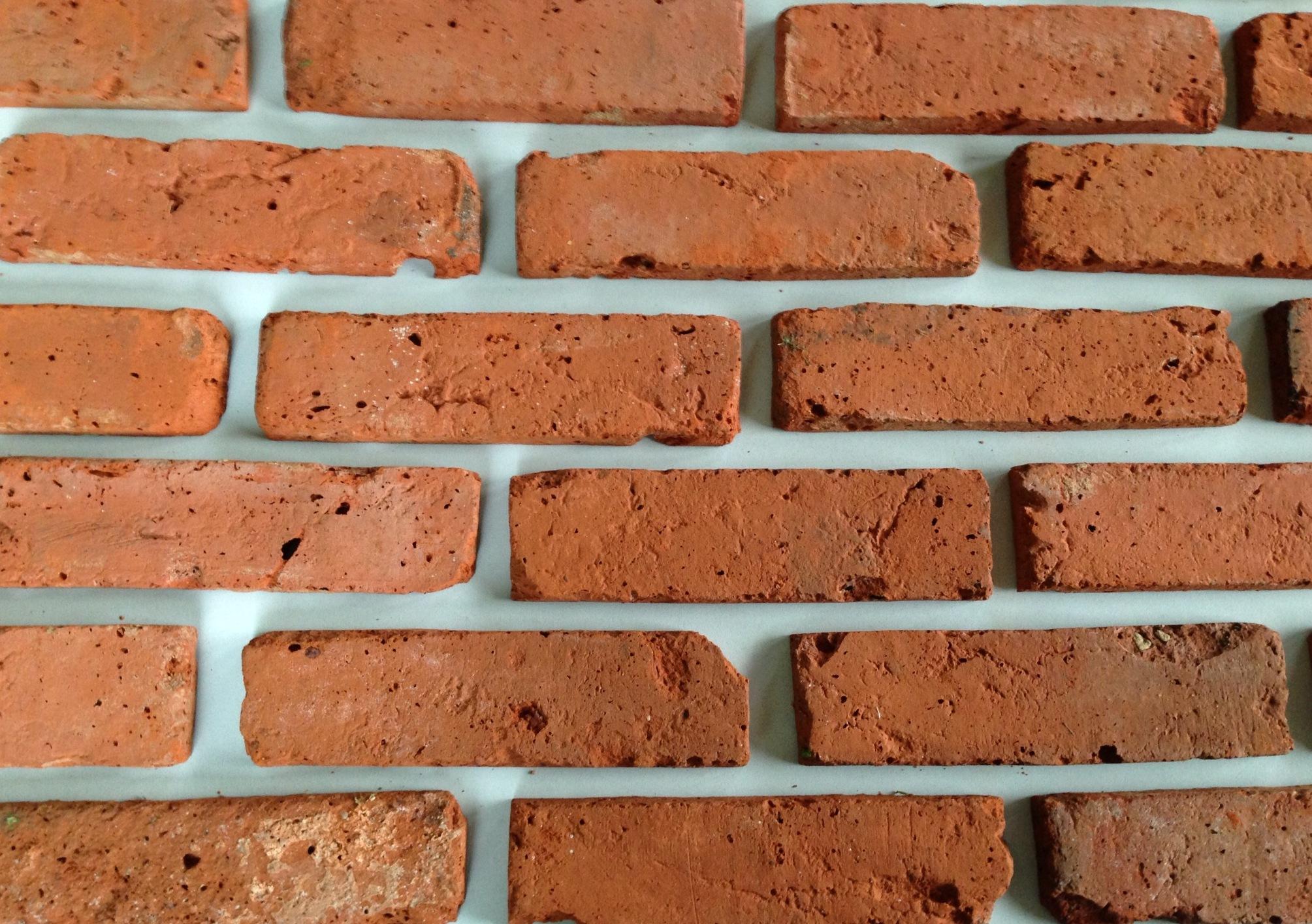 Stare płytki z cegły - licowe