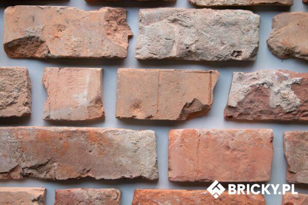 Płytki z cegły - efekt zniszczonej ściany - mix kawałków